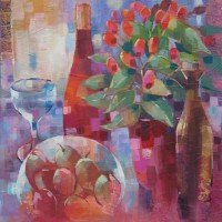 Still Life with Plums and Pepper Pot – Liz Seward S.W.A. S.F.P. Professional Artist, Art Tutor and Art Society Demonstrations