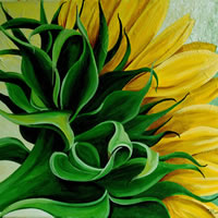 Sunflower Close Up – Tiffany Budd – Fine Artist – National Acrylic Painters Association – Surrey Artists Gallery