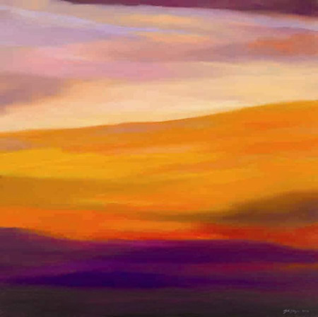 Sunset - Evening Delight - John Dumigan - Oils, Pastels and other Media - Contemporary Art, Landscapes and Abstract - Surrey Artists Gallery