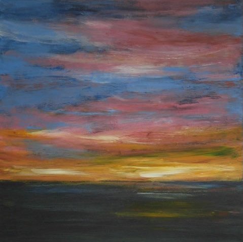 Sunset - Surrey Artists - Hampshire Artist Jan Rippingham - Paintings in Acrylics