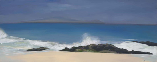 Surf and Sea - John Dumigan - Oils, Pastels and other Media - Contemporary Art, Landscapes and Abstract - Surrey Artists Gallery