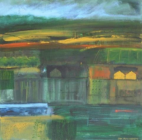 Surrey Hills - Hampshire Artist Jan Rippingham - Paintings in Acrylics - Surrey Art Gallery