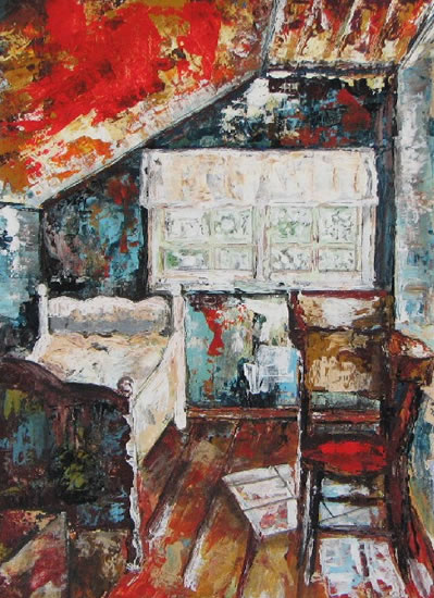 The Attic - Grainne Roche - Fine Artist - Byfleet Art Group - Woking Society of Arts - Surrey Art Gallery
