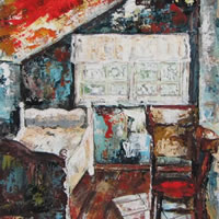 The Attic – Grainne Roche – Fine Artist – Byfleet Art Group – Woking Society of Arts – Surrey Art Gallery