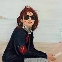 Time to Reflect – Ibitha – Portrait – Surrey Artist Usha Chambore – Acrylic Paintings and Prints