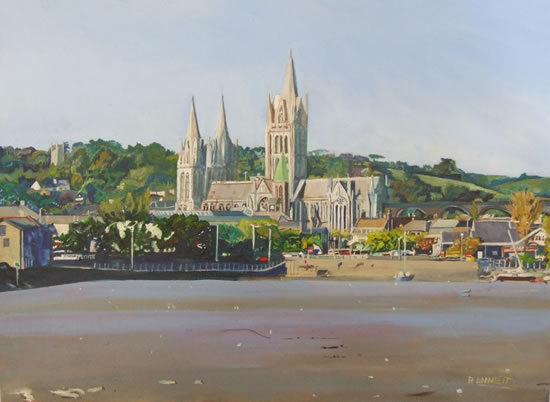 Truro Cathedral - Rodney Thomas Annetts - Woking Society Of Arts - Surrey Artists Gallery