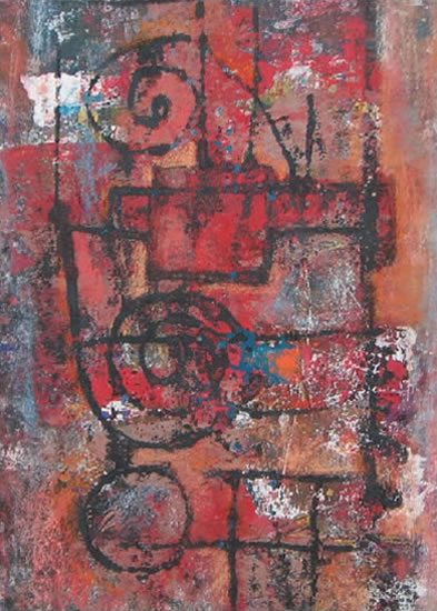 Untitled Abstract 2 - Grainne Roche - Fine Artist - Byfleet Art Group - Woking Society of Arts - Surrey Art Gallery