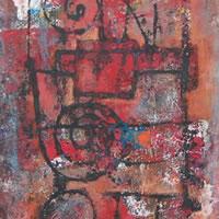 Untitled Abstract 2 – Grainne Roche – Fine Artist – Byfleet Art Group – Woking Society of Arts – Surrey Art Gallery