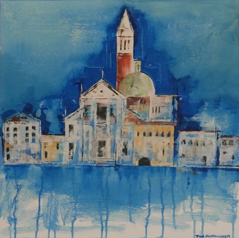 Venice - San Giorgio Maggiore - Hampshire Artist Jan Rippingham - Paintings in Acrylics - Surrey Art Gallery