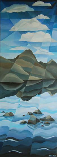 Wast Water - Lake District - Abstract - Tiffany Budd - Fine Artist - The National Acrylic Painters Association - Surrey Artists Gallery