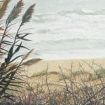 Water Reeds – Sicilian Sea – Sicilian Artist Teresa Scannella – Surrey Artists Gallery – White Rose Art Group Woking
