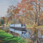 Winter Cruise on the River Wey – Rodney Thomas Annetts – Woking Society Of Arts – Surrey Artists Gallery