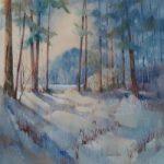 Winter Light – Turfhill, Surrey – Liz Seward S.W.A. S.F.P. Royal Institute of Painters in Watercolour and The Society of Women Artists