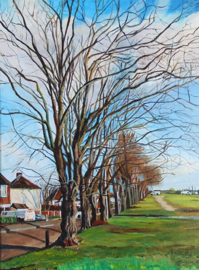 Winter Trees - Rodney Thomas Annetts - Woking Society Of Arts - Surrey Artists Gallery