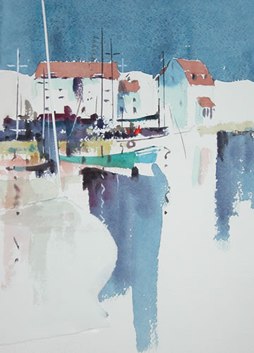 Woodbridge Suffolk - Kim Page - Paintings in Watercolour and Oil - Surrey Art Gallery - England