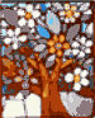 sold - stained glass mosaic tree