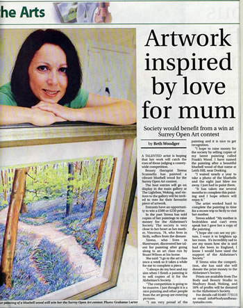 Nwspaper Article - Woking Lightbox Art Competition