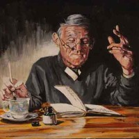 A Perfect Line – from Under Milk Wood – Sussex Artist – William E. Rochfort – Fine Art Oil Paintings and Limited Edition Fine Art Prints