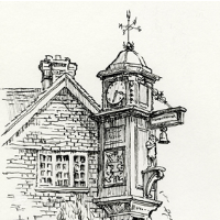 Abinger Hammer Clock – Surrey Village – Malcolm Surridge – Artist – Landscape Paintings – Surrey Artists Gallery