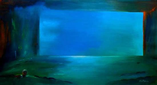 Abstract Art - Cinema Space - Surrey Artist Alan Brain - Farnham Art Society