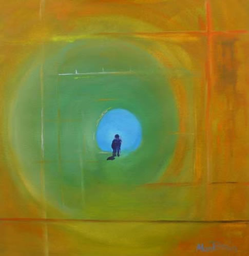 Abstract Art - Escape III - Surrey Artist Alan Brain - Paintings in Watercolour and Acrylic and Art Teacher - Woking Art Society