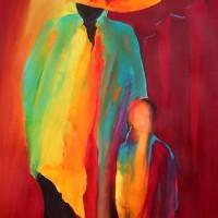 Abstract Art - Friends - Chobham Surrey Artist Alan Brain