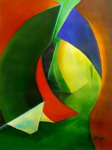 Abstract Art - Journey - Surrey Artist Alan Brain - Paintings in Watercolour and Art Teacher - Farnham Art Society, Sunningdale Art Society, Woking Art Society