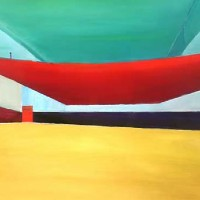Abstract Art – Space IV – Surrey Artist Alan Brain – Paintings in Watercolour and Acrylic and Art Teacher – Woking Art Society