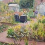 Allotments and Greenhouses – Gardening – Landscape – Margaret Harvey – Surrey Artist – Painter in Oil, Acrylic and Watercolour