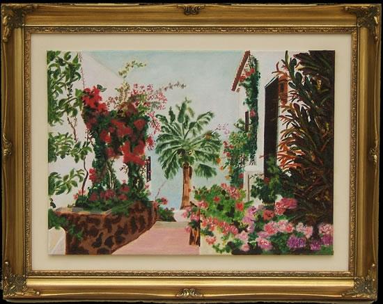 Beautiful Floral Tropical Garden - Playa de Santiago, Canary Islands - Florenca (June Martin) - Surrey Artists Gallery