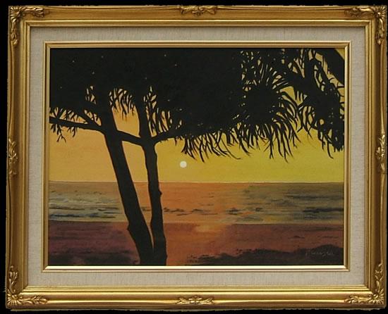 Bentota Beach, Sri Lanka - Florenca (June Martin) - Artist - Landscape Paintings - Oil on Canvas - Surrey Artists Gallery