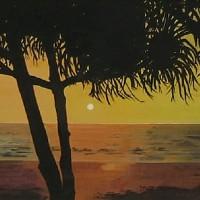 Bentota Beach, Sri Lanka – Florenca (June Martin) – Artist – Landscape Paintings – Oil on Canvas – Surrey Artists Gallery