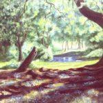 Bluebells in Woodland – W.R. Kimber – Surrey Artist Bill Kimber – Byfleet Art Society