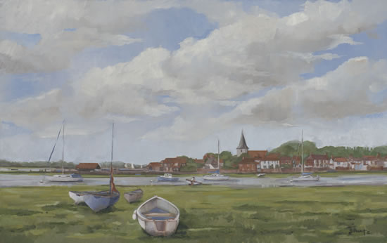 Bosham - West Sussex - England - Mark Dorsett - Watercolour and Oil Paintings - Littleton Artists Group