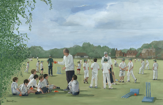 Chiddingfold Cricket Club - Surrey - Mark Dorsett - Watercolour and Oil Paintings - Littleton Artists Group