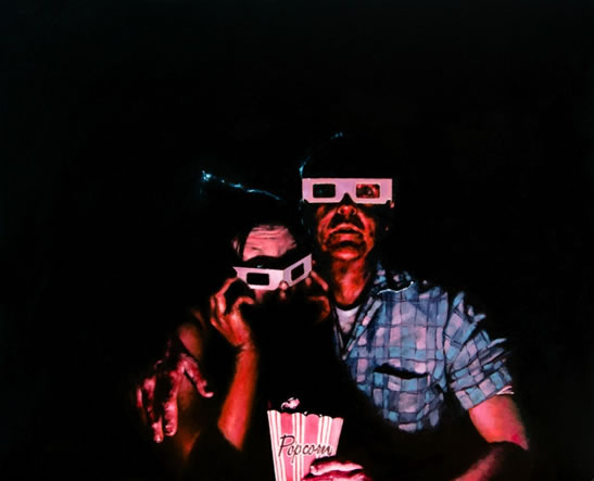 Cinema and Movies - 3D glasses - Sussex Artist William E Rochfort