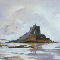 Cornwall – St Michael's Mount – Surrey Artist Terence J. Kitson – Paintings in Watercolour and Oil – Byfleet Art Group