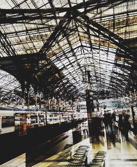 Digital Art - Waterloo Station - Cate Field - Digital Artist, Art Teacher and Tutor - Surrey Artists Gallery