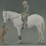 Dog, Horse and Rider – Friends – Mark Dorsett – Watercolour and Oil Paintings – Littleton Artists Group