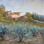 Evening Olives, Tuscany – Malcolm Surridge – Artist – Painting in Pastels – Surrey Artists Gallery