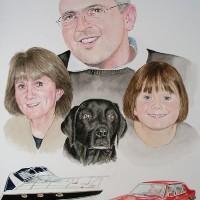 Family Portrait – David Fisher – Commissions – Portrait Artist – Surrey Gallery