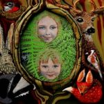 Forest Kids – Katwish – Katie Griffiths – Portrait Artist – Oils, Acrylics and Textile Sculpture