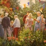 Garden Party – Iain White – Surrey Artist – Portraits and other Paintings in Acrylic, Pastel and Conte