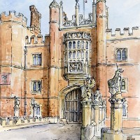 Hampton Court Palace – English Landmark – Malcolm Surridge – Artist – Landscape Paintings – Surrey Artists Gallery