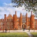 Hampton Court Palace – Malcolm Surridge – Artist – Landscape Painting in Pastels – Surrey Artists Gallery