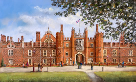 Hampton Court Palace - Malcolm Surridge - Artist - Landscape Painting in Pastels - Surrey Artists Gallery