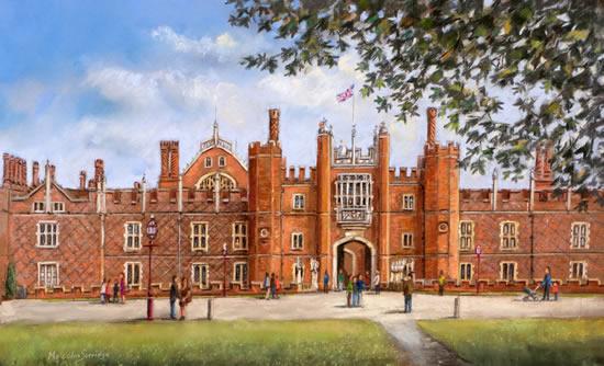 Hampton Court Palace - Malcolm Surridge - Artist - Landscape Painting in Pastels - Surrey Artists Gallery