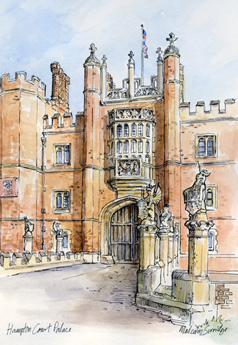 Hampton Court Palace - Malcolm Surridge - Artist - Landscape Paintings - Surrey Artists Gallery