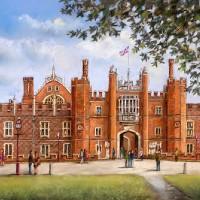 Hampton Court Palace – Malcolm Surridge – Artist – Landscape Painting in Pastels – Surrey Artists Gallery