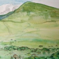 Hay Bluff – Landscape – Margaret Harvey – Surrey Artist – Painter in Oil, Acrylic and Watercolour